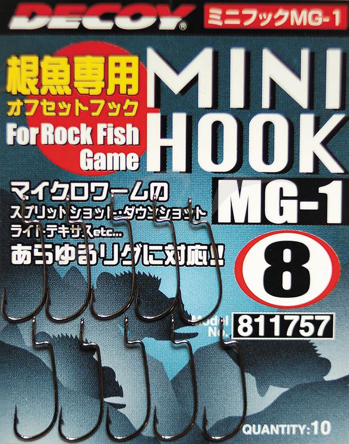 Крючок Decoy Mini Hook MG-1 #6 (10 шт/уп)