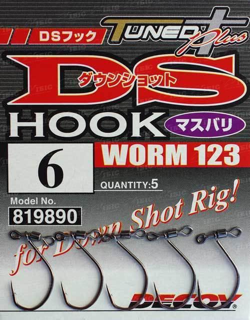 Крючок Decoy Worm123 DS Hook Masubari #3 (5 шт/уп)