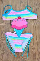 Модный купальник для девочки 1339 с 28 по 36 размера