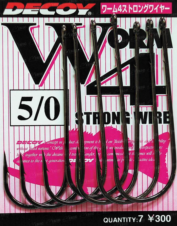 Гачок Decoy Worm4 Strong Wire #1/0 (9 шт/уп)