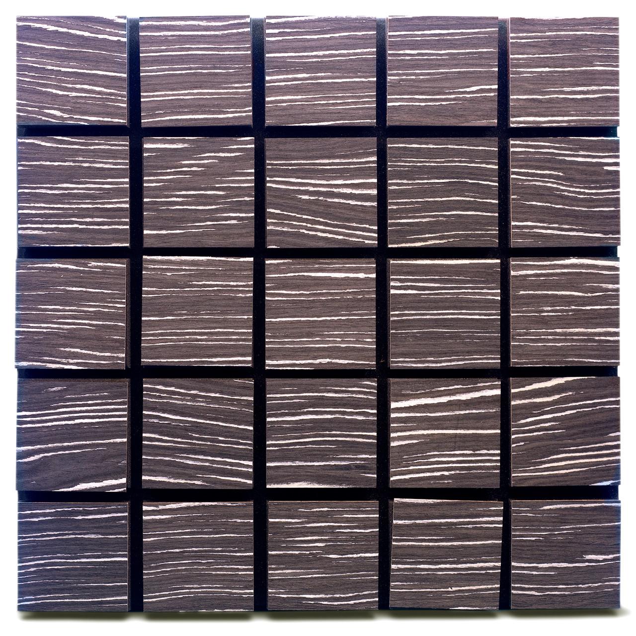 Акустическая панель Ecosound Tetras Wood Ebony&Ivory 50x50см 73мм цвет черно-белый