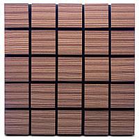 Акустическая панель Ecosound Tetras Wood Venge Contrast 50x50см 73мм цвет коричневый в полоску, фото 1