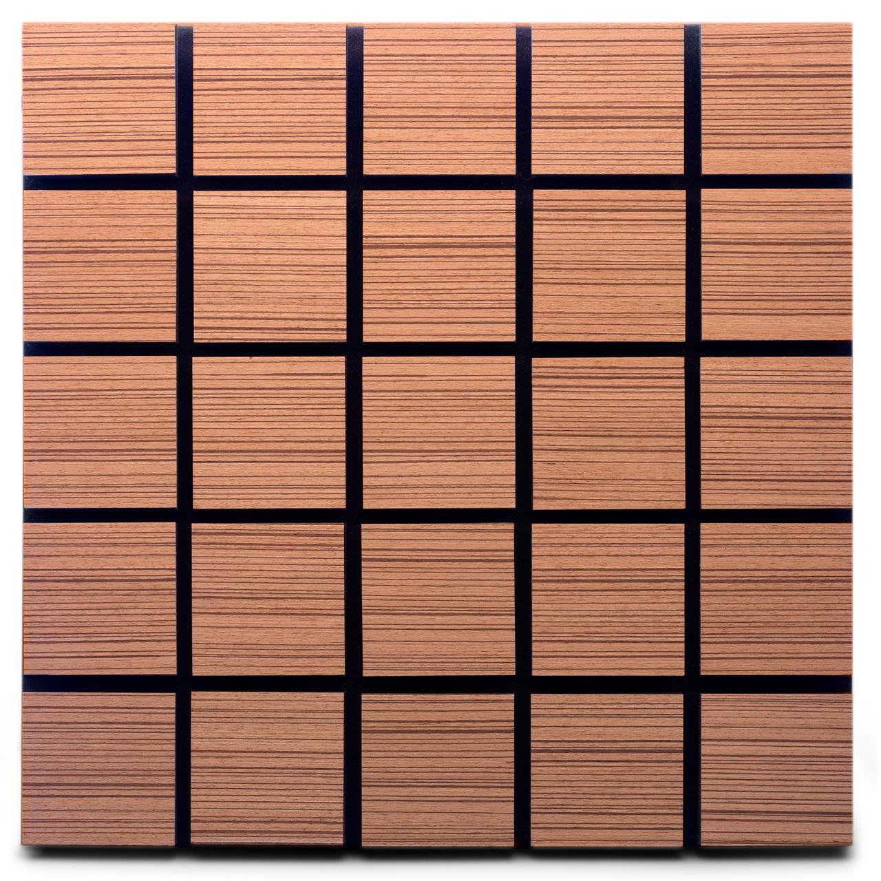 Акустическая панель Ecosound Tetras Rosewood 50x50см 73мм цвет коричневый