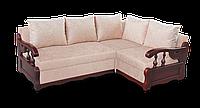 Угловой диван  София с деревянными подлокотниками фабрики Нота
