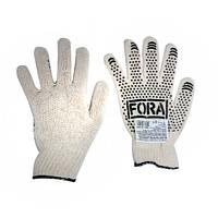 Перчатки DOLONI ПВХ Белые с точкой