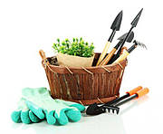 Садовые и огородные покупки − перчатки для огорода, рассадники, пластиковые лотки и сумки