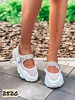 Женские  летние босоножки спортивные на платформе белые 36, 37,39,40 размер