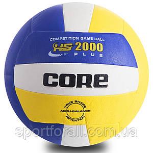 М'яч волейбольний PU CORE HS-2000 PLUS ( №5, 3 шари) CRV-030