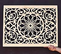 Деревянный Экран для Батареи Резной Декоративный Отопления Решетка для Радиатора из дерева фанера, фото 1