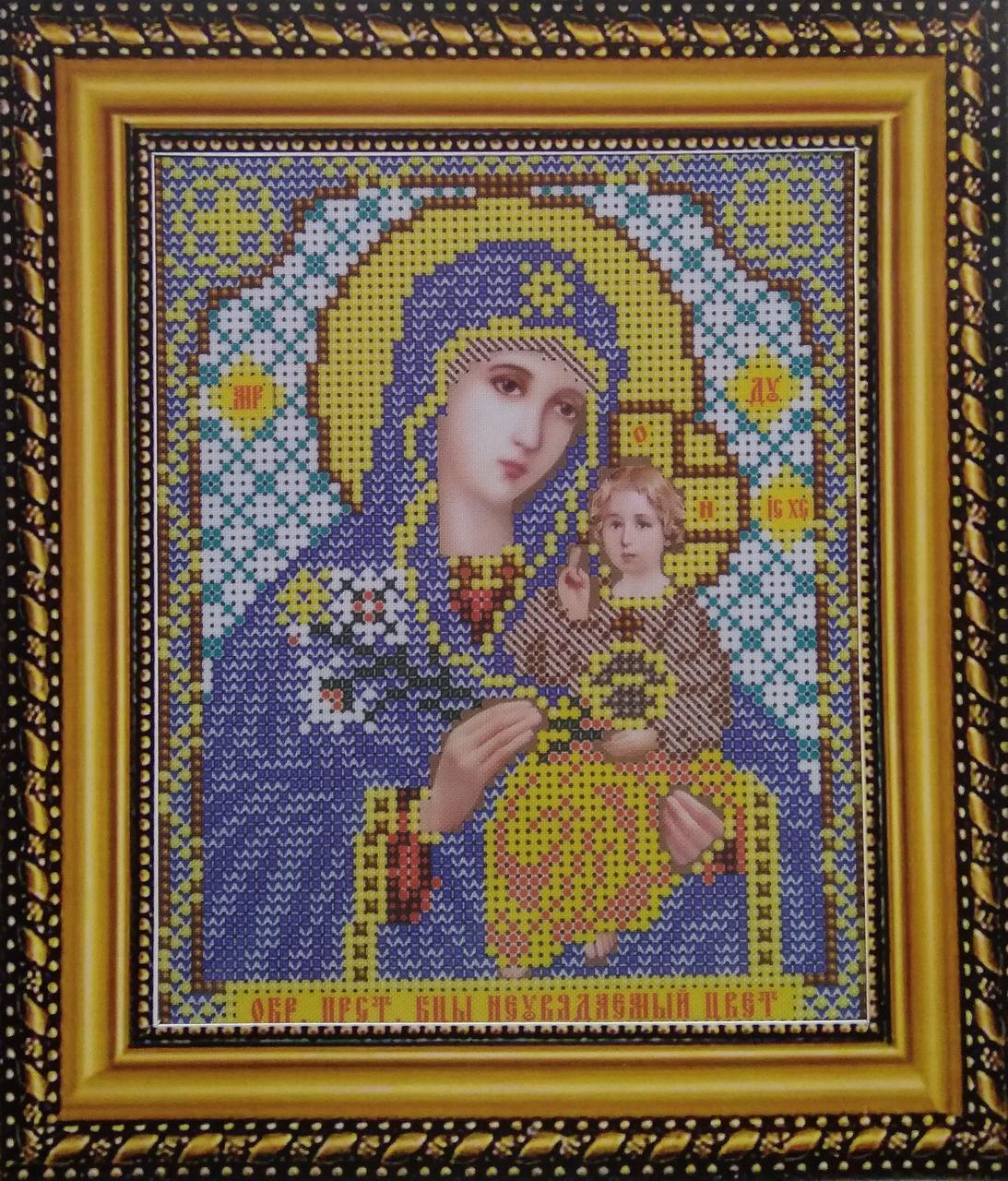 Набор для вышивки бисером ArtWork икона Божия Матерь Неувядаемый цвет VIA 5009