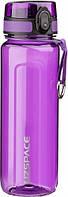 Бутылка для воды UZSPACE U-type 6019 750 мл, фиолетовая, фото 1