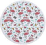"""Кругле пляжний рушник """"Summer Flamingo """", фото 2"""