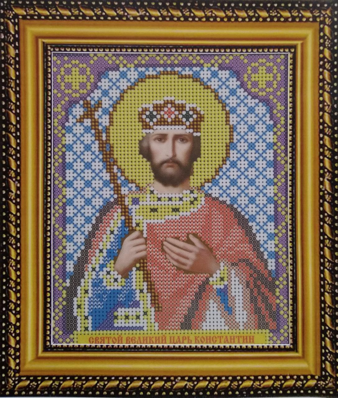 Набор для вышивки бисером ArtWork икона Святой Великий Царь Константин VIA 5027