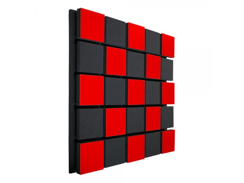 Акустическая панель Ecosound Tetras Acoustic Wood Red 50x50см 73мм Цвет красный