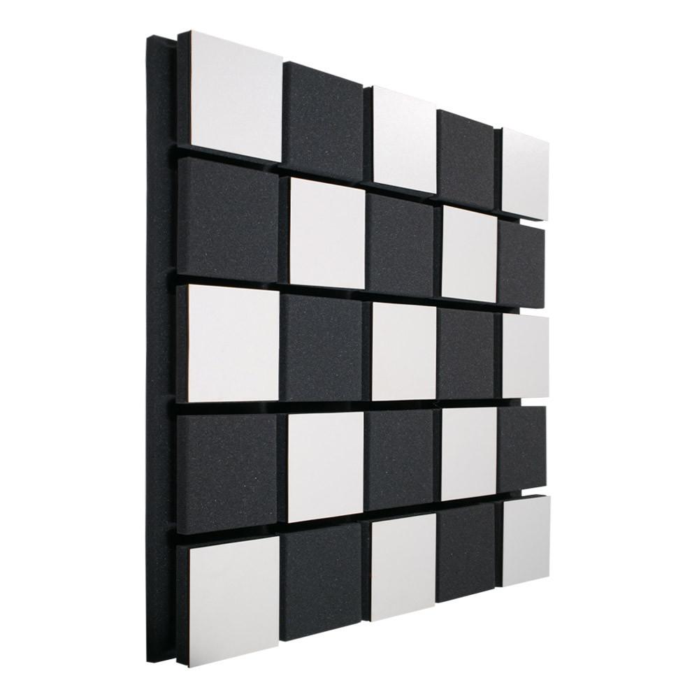 Акустическая панель Ecosound Tetras Acoustic Wood White 50x50см 73мм цвет черно-белый