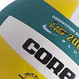 Мяч волейбольный PU CORE HS-2000 PLUS  ( №5, 3 слоя) CRV-029, фото 3