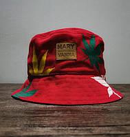 Мужская панама красная лето Mary Vanna принт конопля Турция. Много других брендов, фото 1