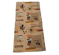 Вафельное полотенце Luxyart Кофе размер 35*70 см Коричневый (LS-732)