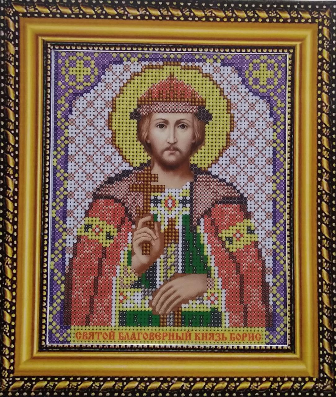 Набор для вышивки бисером ArtWork икона Святой Благоверный Князь Борис VIA 5048