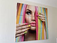 Картина модульная в салон красоты 120 см квадрат фото картина на холсте большая картина
