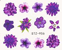 Слайдер дизайн для ногтей водный STZ-956