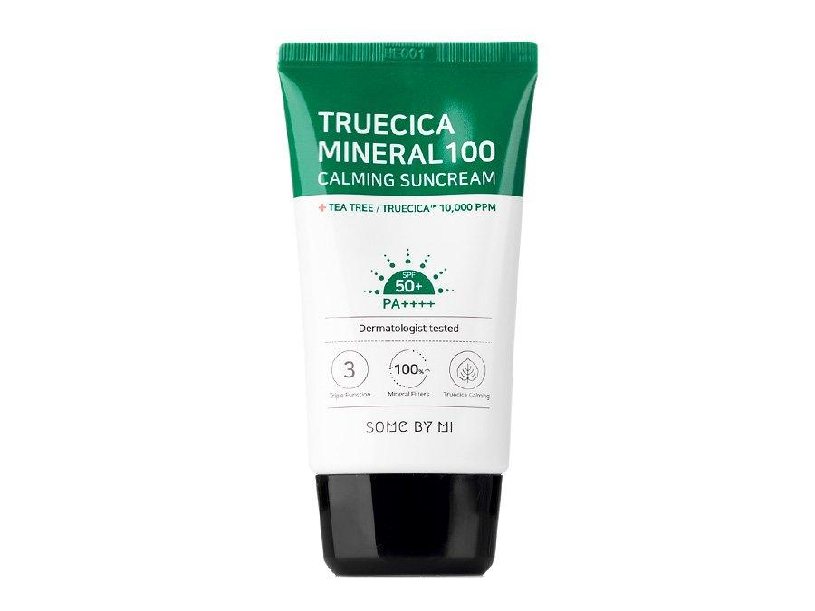 Успокаивающий солнцезащитный крем Some By Mi Truecica Mineral 100 Calming Sun Cream SPF50 PA++++