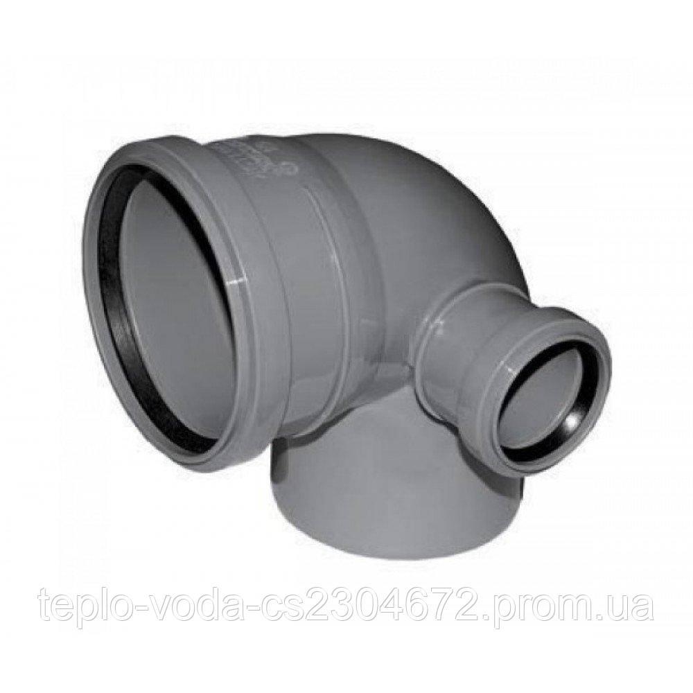 Колено110х50х90 правое для канализации