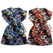 Платье домашнее женское Xuelixiang з поясом, платье летнее