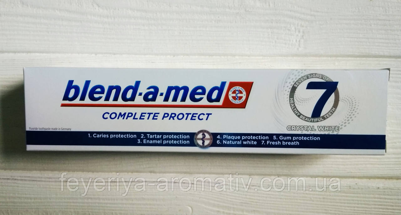 Зубная паста Blend-a-med Complete protect 125 ml Crystal white