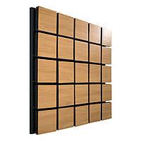 Акустическая панель Ecosound Tetras Wood Cream 50x50см 73мм цвет светлый дуб