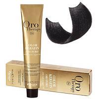 Безаммиачная крем-краска для волос Fanola Oro Therapy Color Keratin 100 мл 1.0 Черный