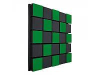 Акустическая панель Ecosound Tetras Acoustic Wood Green 50x50см 73мм Цвет зелёный, фото 1