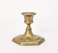 Старый латунный маленький подсвечник,  латунь, Индия, фото 1