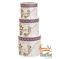 Подарочные коробки для цветов и подарков Provence 3 шт набор