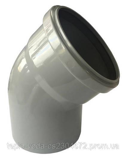 Колено 110х45 для канализации