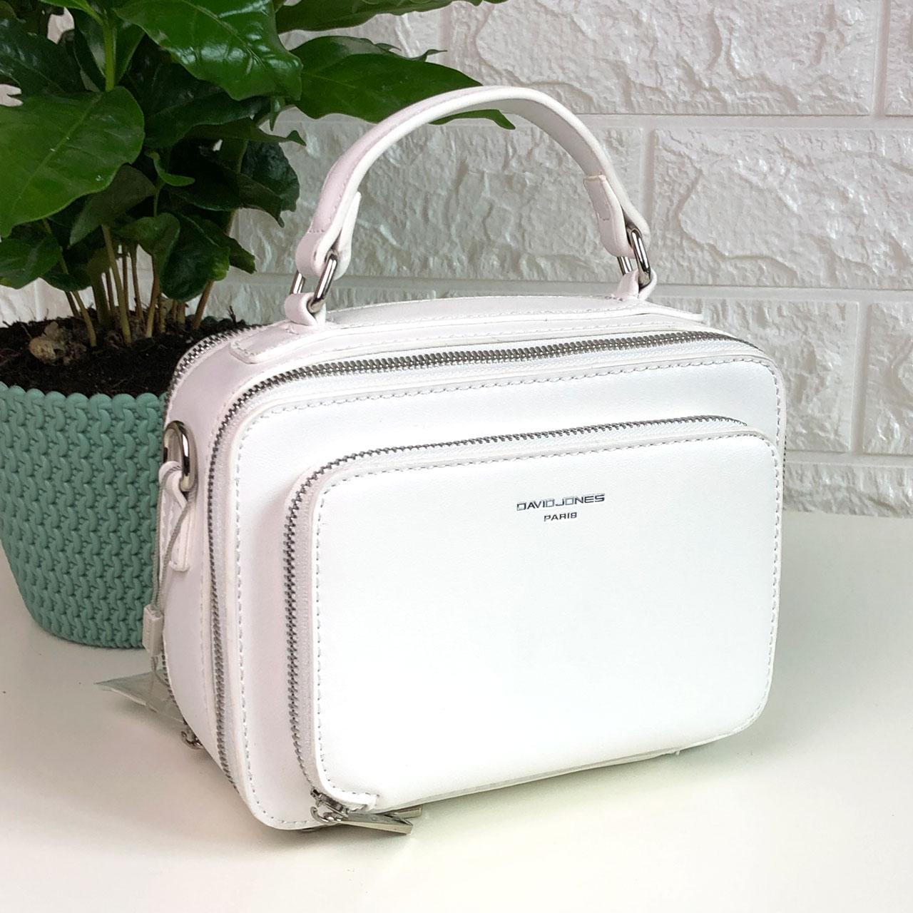 Женская сумка кросс-боди David Jones CM3966 Белая