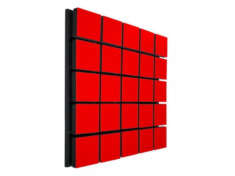 Акустический панель Ecosound Tetras Wood Red 50x50см 73мм цвет красный