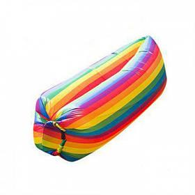 Надувное Кресло Мешок Лежак Самонадувной Диван Гамак Аэролежак Air Rainbow + Сумка Для Хранения, 230*90 см. (854132)