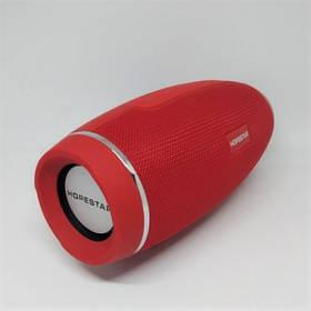 Беспроводная Портативная Вluetooth Колонка Hopestar H27 Красный Спикер (2000 mAh 100-18000 Гц, 10 Вт) USB, AUX, Сабвуфер (46993)