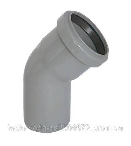 Коліно 50х45 для каналізації