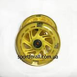 Колеса для самоката с подшипником светящиеся 2шт 125мм (желтые), фото 2