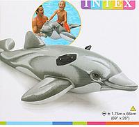 Детский надувной плотик для катания Intex 58535 Дельфин, 175*66 см