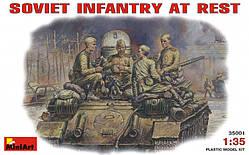 Пехота на отдыхе, 1943-1945