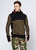 Мужская теплая толстовка с капюшоном Triko М Хаки 7172210, КОД: 1452753