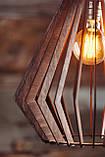 Люстра деревянная СОНЦЕ by smartwood   Люстра лофт   Дизайнерский потолочный светильник, фото 4