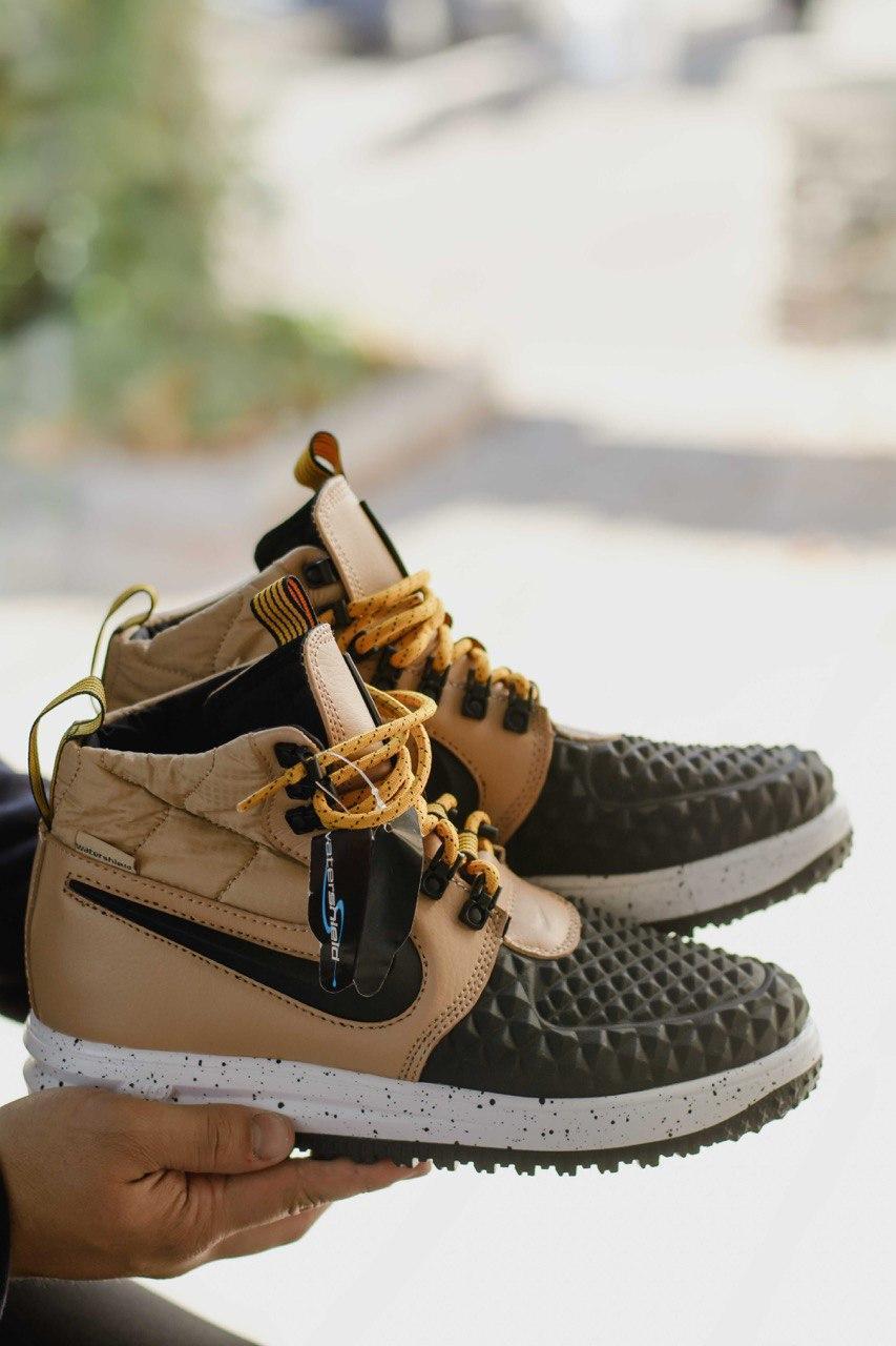 Демисезонные ботинки мужские Nike Duckboot Beige (найк дакбут бежевые), Бежевый