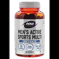 Now Foods Men's Active Sports Multi - 180 Софт Гель, фото 1