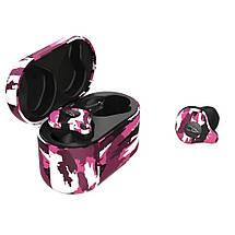 Беспроводные Bluetooth наушники Sabbat X12 Ultra Emirates rock c поддержкой aptX (Черно-розовый), фото 3