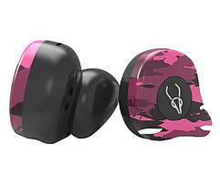 Беспроводные Bluetooth наушники Sabbat X12 Ultra Emirates rock c поддержкой aptX (Черно-розовый), фото 2