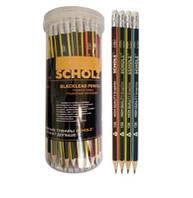 Олівець графітний Scholz HB з гумкою трикут. чорно-неон 126 // 72 шт